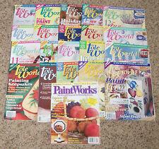 Lot 20 Decorative Tole World Folk Art Painting Pattern Craft Magazine Projects
