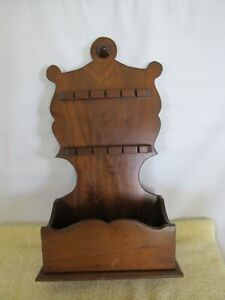 Vintage Spoon Rack, Wood, Victorian Style