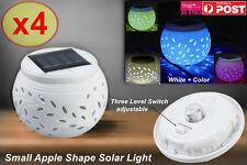 4xWhite Ceramic Color Changing LED Solar Light Pot Lamp Indoor Home Decor SLZD04
