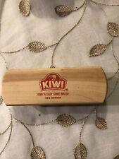 """Vintage KIWI Branded 100% Horsehair Kwik N Easy Shine Brush 6.5"""""""