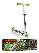 Ozbozz Push Scooter Dinosaur 2 Light up Wheels Foldable for Boy Girl 3+ Years