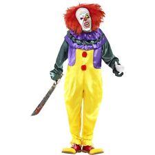 Men's Women's Classic Horror Scary Killer Clown Halloween Fancy Dress IT Costume