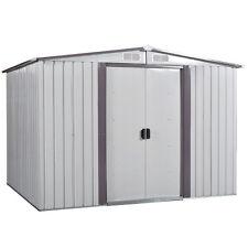8' x 8' Garden Shed Storage Kit Diy Backyard Metal Building Doors Outdoor Steel