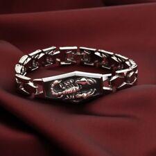 Silver Tone Scorpion Chain Link Bracelet 19cm