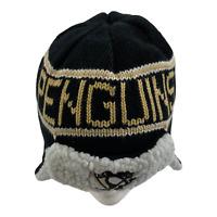 NHL 47 Brand Pittsburgh Penguins Winter Knit Hat Cap Big Style Black Grey Beige