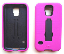 PINK/BLACK ARMOR Case Cover For Samsung Galaxy S5 / G9009D G900A G900T G900W8
