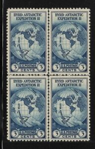 1935 Sc 753 Byrd Expedition 3c XF MNG as issued Center Line Block NGAI  (XF1