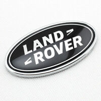 Rear Tailgate Emblem Badge Black and Silver Oval Logo for Land Rover