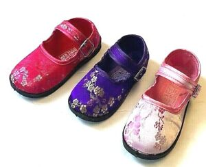 Baby Girl Chinese Classic Mary Jane Floral Satin Brocade Shoes Sizes 5 ~ 10