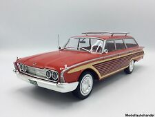 Ford country Squire 1960-rojo/madera - 1:18 mcg