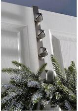 Bells Wreath Hanger Christmas Decoration Antique Silver 38 cm