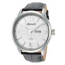 Ingersoll Men's Regent I00202 47mm Silver Dial Leather Automatic Watch