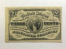 1863 March 3rd 3c Fractional Currency