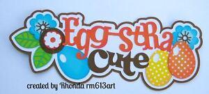 Cute Easter Boy paper piecing title premade scrapbook page die cut by  Rhonda