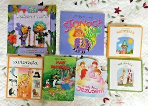 "Books ""Polskie Ksiazki Dla Dzieci"" Children Polish Language Poland Book Lot of 7"