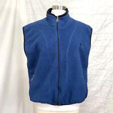 Champion Men's M Top Vest Fleece Blue Black Zippered Pockets #J