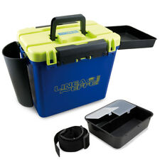 LINEAEFFE FISHING SEAT BOX SEA FISHING TACKLE BOX WITH BAIT BOX ROD HOLDER