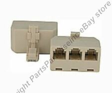 Lot10 RJ11 3way/jack/female/port Y cable/cord/wire Splitter,Phone/Telephone 6P4C