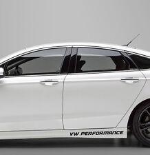 Aufkleber Sport VW Performance Schweller 50cm JDM Volkswagen Tuning GTI Race 2x