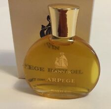 Vintage Full Arpege Bath Oil by Lanvin 1/2 fl.oz. New Never Used in Box