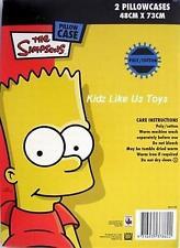 ~ Simpsons - BART 2 X PILLOWCASE COVER SKATEBOARD Half Pipe