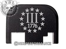 for Glock Rear Plate 17 19 21 22 23 27 30 34 36 41 Blk G1-4 3 Percenter US 1