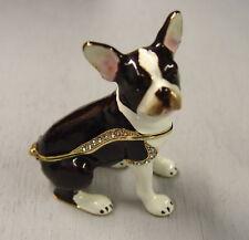 Boston Terrier Dog Trinket Box, pill box, hiding place, pillbox, jewelry box