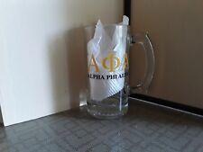 Alpha Phi Alpha Glass Mug Beer Stein  Black Yellow National Honor Society