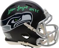 """Steve Largent Seahawks Signed Black Matte Alternate Mini Helmet & """"HOF 95"""" Insc"""