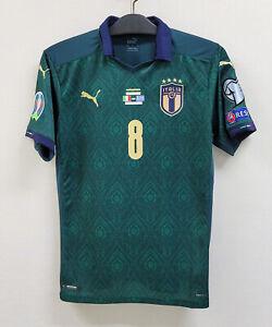 2020 ITALY Third S/S No.8 JORGINHO EURO 20-21 Qualifying vs Greece jersey shirt