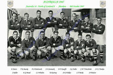 """AUSTRALIA 1947 (v North of Scotland) 12"""" x 8"""" RUGBY TEAM PHOTO PLAYERS NAMED"""