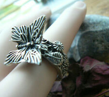 Butterfly Ring Vintage Silver Quirky Spring Boho Unusual Gift for her Sister