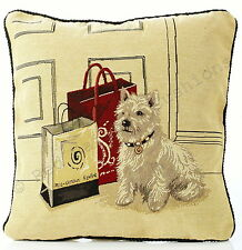 "Scotty Dog Tapestry 18"" Cushion Cover Retro Vintage Print BNWT"