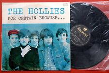 HOLLIES FOR CERTAIN BECAUSE...1967 RARE YELLOW PARLOPHONE ORIGINAL EXYUGO LP