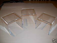 Set of 3 Clear Acrylic/perspex Display Cabinet Risers