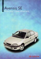 Toyota Avensis SE Limited Edition 1999 UK Market Brochure Saloon Hatch Estate
