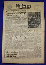 DIE PRESSE (30.5.1961): Schwere Studentenkrawalle behindern Staatsbesuch