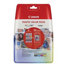 Canon Cli521 Black Cyan Magenta Yellow 50 Sheets 6x4 Photo Paper 2933B010