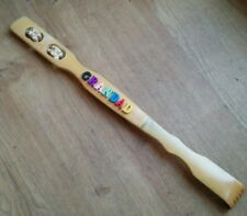 PERSONALISED TO ORDER Bamboo Back Scratcher +Foot/Back Roller - gift - any name