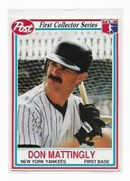 DON MATTINGLY 1990 Post Cereal First Collector Series #1 of 30~ New York Yankees