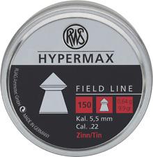 RWS Hypermax pointed  LEAD FREE Air gun Pellets .22/5.50mm Qty 150 Free P&P