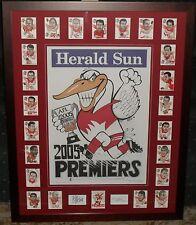 SYDNEY SWANS 2005 WEG Premiership Poster & WEG Card Tribute *Signed*