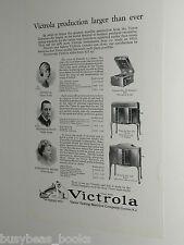 1924 VICTROLA advertisement, Victor Talking Machine, Victrola 50, 210, 240