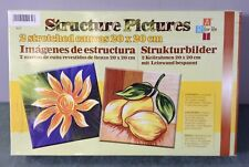 Structure Pictures 2 Stretched Canvas 20x20cm Art Kit / Set  **New Other**