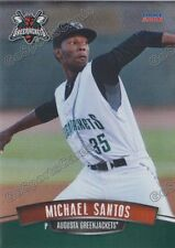2016 Augusta Greenjackets Michael Santos RC Rookie Giants