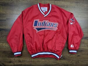 Vintage Starter Cleveland Indians Pullover Chief Wahoo Size Medium