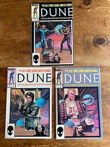 Dune #1-#3 Complete Limited Series Marvel Comics 1985 Comic Books Set Box NM 2