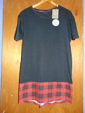 """Brave Soul 100%Cotton Longer Fit 'Eagle' T-Shirt S Ch 36-38"""" Black Mix BNWT"""