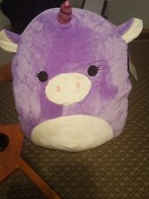 "Squishmallow Kellytoy Astrid the Unicorn  Super Soft Pillow Huge  16"" NWT"