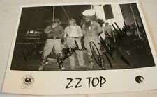 ZZ  TOP HAND SIGNED 8 X 10 B & W PHOTOGRAPH BILLY GIBBONS DUSTY HILL FRANK BEARD